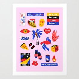 Favs Print Art Print