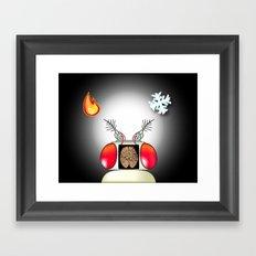 Fly brain Framed Art Print