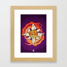 Solrock - Fire Spin Framed Art Print