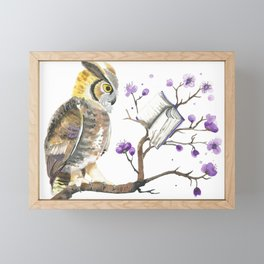 Know It Owl Framed Mini Art Print
