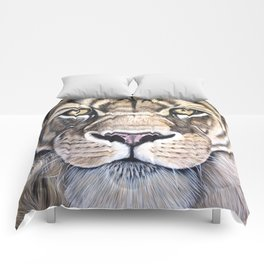 """Lion """"The King"""" Acrylic Painting Comforters"""