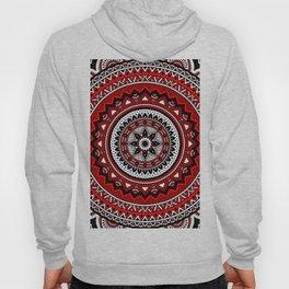 Red and Black Mandala Hoody