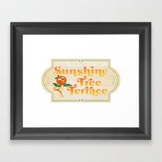 Sunshine Tree Terrace Framed Art Print