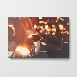 Night drive. Metal Print