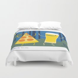 everybody likes pizza and beer Duvet Cover