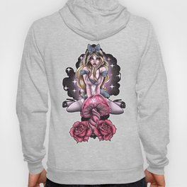 Alice in the wonderland tattoo pin up  Hoody