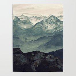 Mountain Fog Poster