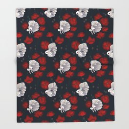 Bettas and Poppies Throw Blanket