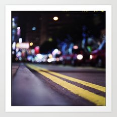 Hong Kong Street Lights Art Print