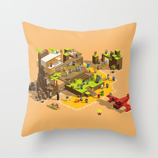 PIXEL ISLAND VOL.2 Throw Pillow