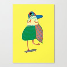 Skateboarding Owl. Canvas Print