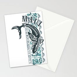 Vintage Maui Tribal Shark Dive Stationery Cards