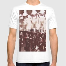 Crowd White Mens Fitted Tee MEDIUM