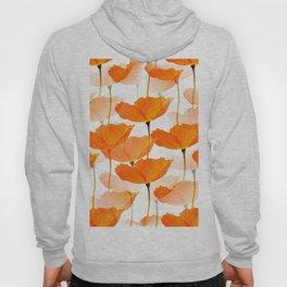 Orange Poppies On A White Background #decor #society6 #buyart Hoody