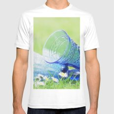 Summer vibes White Mens Fitted Tee MEDIUM