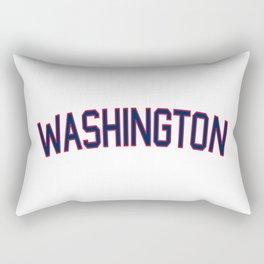 Washington Sports College Font Rectangular Pillow