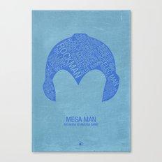Mega Man Typography Canvas Print