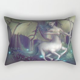 The Emerald Sentinel Rectangular Pillow