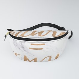 The Future is Female Copper Bronze Gold on Marble Fanny Pack