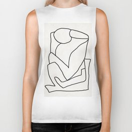 Abstract line art 2 Biker Tank