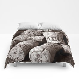 Cork of Champagne - Brown Duplex Comforters