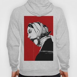 Lady Portrait on Red. Hoody