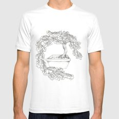 Ginkgo Tree MEDIUM Mens Fitted Tee White