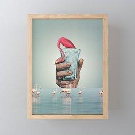 Newborn / collage / moon water Framed Mini Art Print