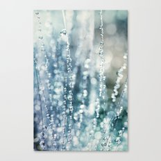 Blue Grass Drops Canvas Print