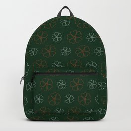 SHOWERING CLOVERS: GREEN, ORANGE, WHITE Backpack