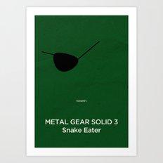 Konami's Metal Gear Solid 3 : Snake Eater Art Print