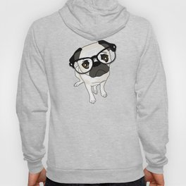 Pug Wearing Spectacles Hoody