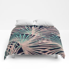 Tropical Fan Palm Leaves #5 #tropical #decor #art #society6 Comforters