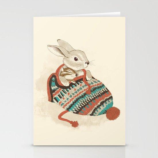 cozy chipmunk Stationery Cards