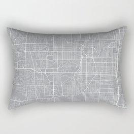 Omaha Map, Nebraska USA - Pewter Rectangular Pillow