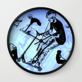It's All About The Scooter! - Scooter Tricks Wall Clock