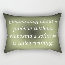 Complaining Without Proposing Rectangular Pillow