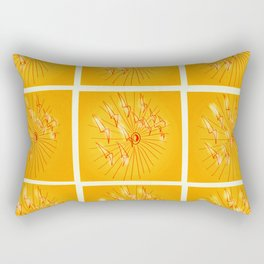 Taking Flight - Yellow Orange & Red Palette Rectangular Pillow