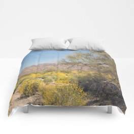 Joshua Tree Wildflowers Comforters