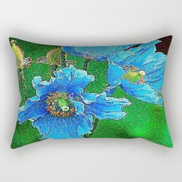 Blue Paradise Rectangular Pillow