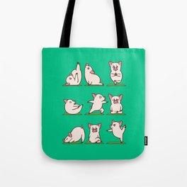 Pig Yoga Tote Bag