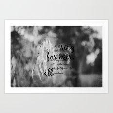 Psalm 89:1 Sing Mercies Lord Art Print