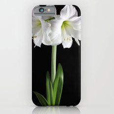 White amaryllis Slim Case iPhone 6s