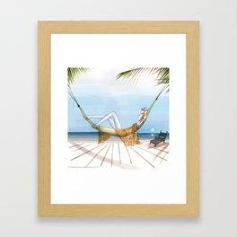 Chill, Relax, it's Summertime!! Framed Art Print