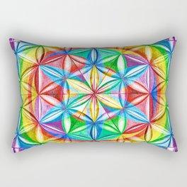 Shimmering Wheel - The Mandala Collection Rectangular Pillow