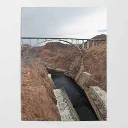 Lake Mead Spillway And Memorial Bridge Poster
