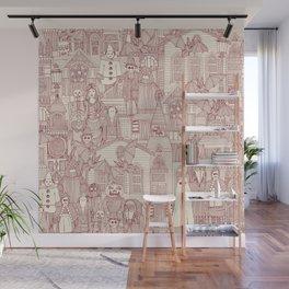vintage halloween claret ivory Wall Mural