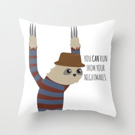 You Can Run Throw Pillow