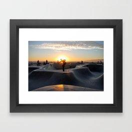 Sunset Skate Framed Art Print