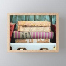 Vogue - in Pink Stripes Framed Mini Art Print